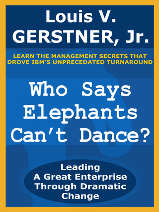 Book review — Who Says Elephants Can't Dance? مرجع: