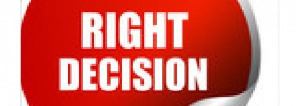 الطريق نحو اتخاذ القرار